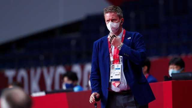 Per Morten Sødal er delegat under OL-finalen mellom Danmark og Frankrike.