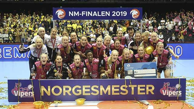 Norgesmestere 2019 - Vipers Kristiansand. Foto: Svein André Svendsen/NHF
